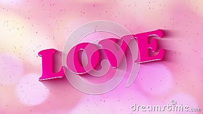 Buon San Valentino, slogan dei social media L'amore per il testo grafico animato accende l'ombra dalla lucentezza della finestra  illustrazione di stock