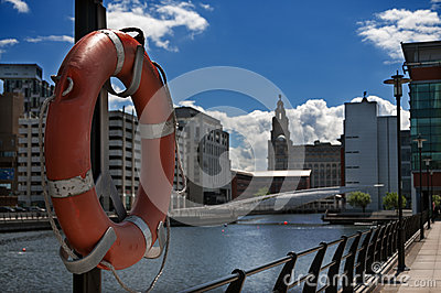 Buoy at liverpool dock side