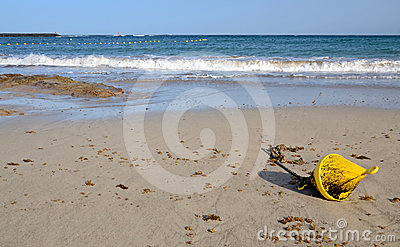 Buoy marker on the beach