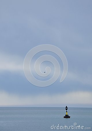 Buoy on the sea