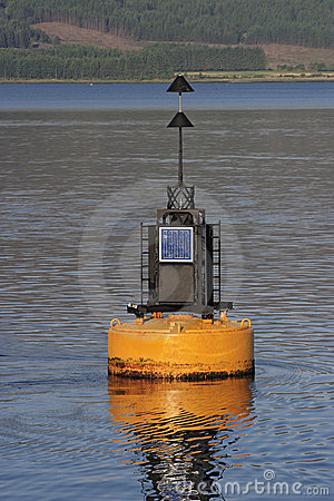 Buoy with sun panel.