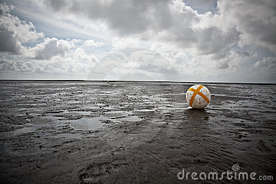 Buoy in the Wadden Sea