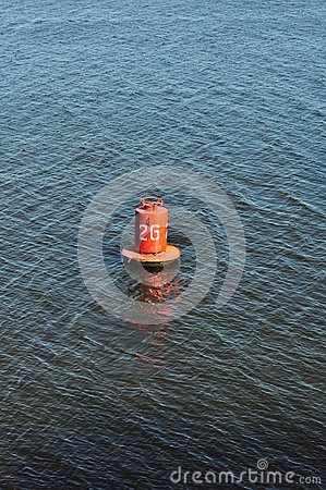 Buoy on the water, marine distance marker