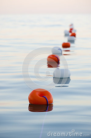 Buoys floating