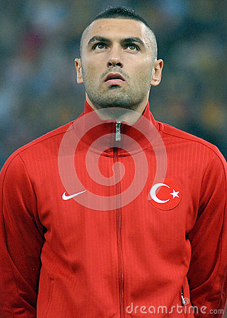 Burak Yilmaz in Romania-Turkey World Cup Qualifier Game Editorial Stock Photo