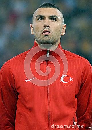 Burak Yilmaz in Romania-Turkey World Cup Qualifier Game Editorial Stock Photo