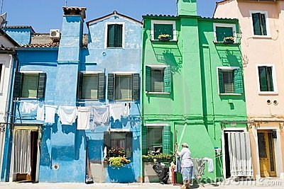 Burano houses Editorial Stock Photo