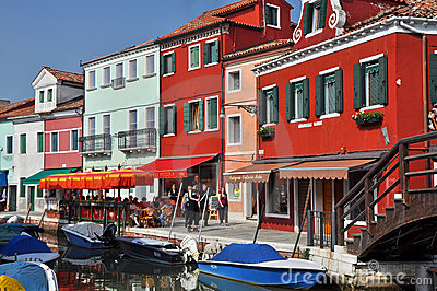 Burano Island Editorial Stock Photo