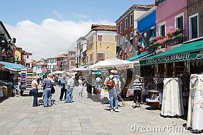 Burano, Venice, Italy Editorial Stock Image