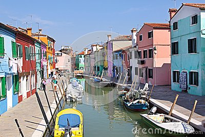 Burano Venice Editorial Stock Image