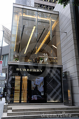 Burberry boutique Editorial Stock Photo