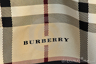 Burberry scarf Editorial Stock Image