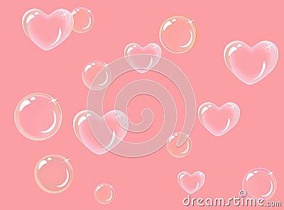 Burbujas de jabón en forma de corazón
