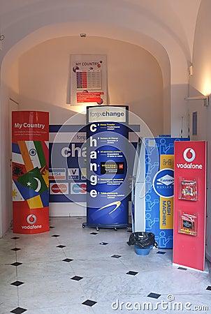 A bureau de change Editorial Stock Photo