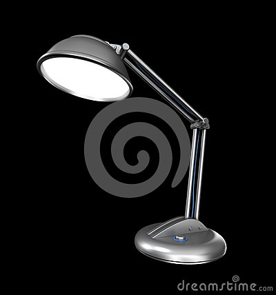 Bureaulamp in dark