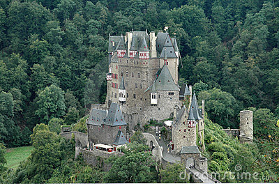 Burg Eltz historic castle situated on the Elz River in Germany - horizontal format
