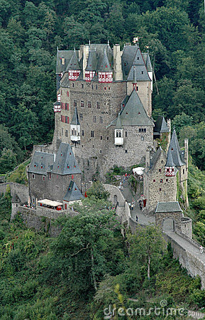 Burg Eltz historic castle situated on the Elz River in Germany - vertical format
