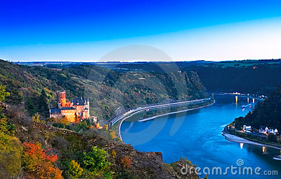 Burg Katz and the Loreley, Germany