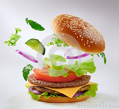 Burger Stock Image - Image: 26706651