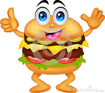 Free Burger Cartoon Characters Royalty Free Stock Images - 33409739