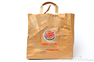 Burger King packaging Editorial Photography