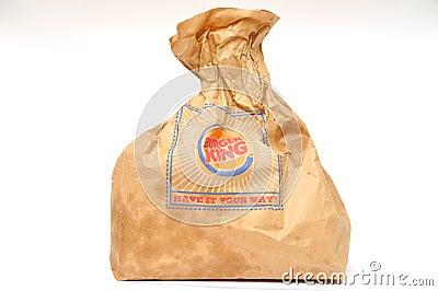 Burger King packaging Editorial Image
