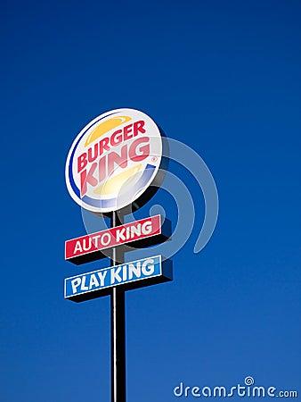Burger King Sign Editorial Photography Image 23248292