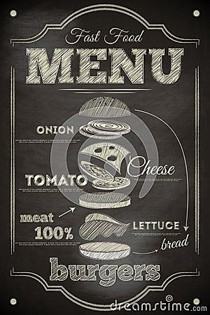 Free Burger Menu Stock Photography - 42027632