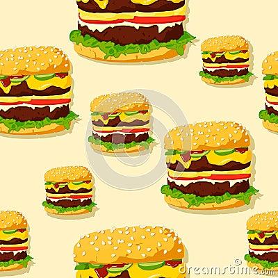 Burger seamless texture.