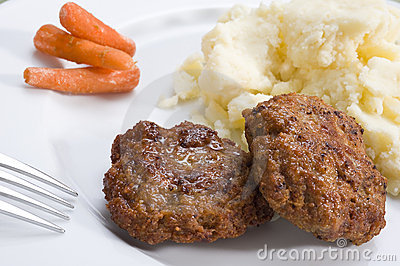Burgers and Mashed Potato