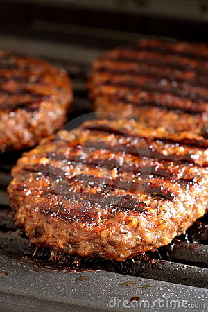 Free Burgers On A Grill Royalty Free Stock Photography - 20491267