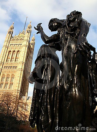 Burgher's of Calais at Westminster