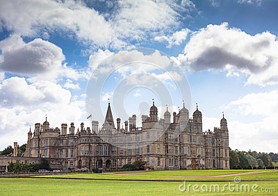 Burghley country house in Stamford, Lincolnshire, Editorial Stock Image