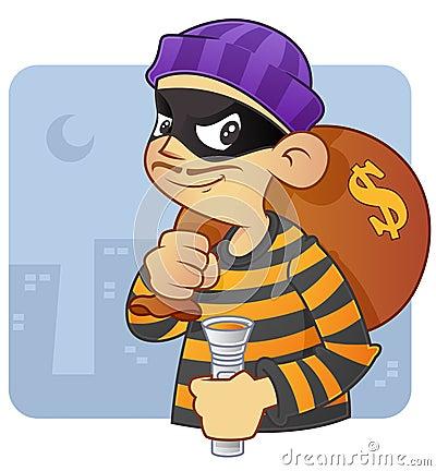 Free Burglar Royalty Free Stock Image - 12736126