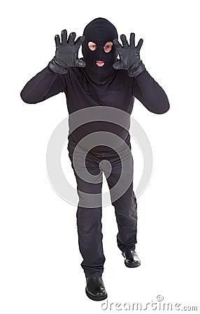 Burglar attack
