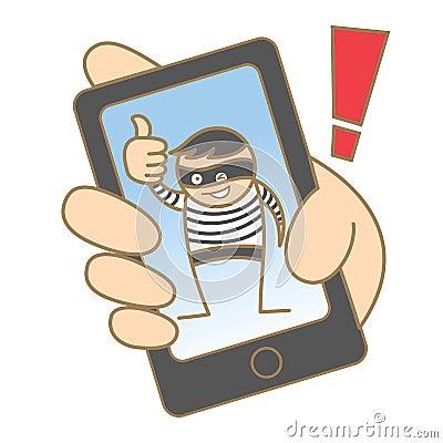 Burglar hacking mobile data