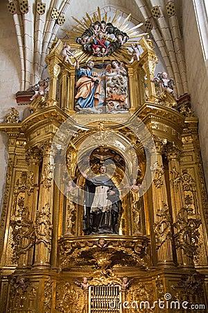 Burgos Cathedral Interior - Northern Spain Stock Photo ...  Burgos Cathedra...