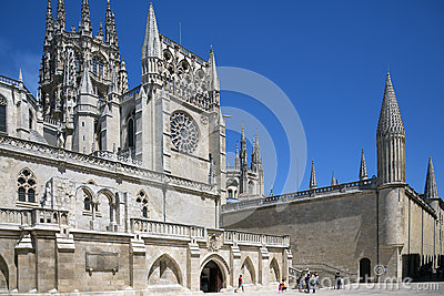 Burgos Cathedral - Northern Spain Editorial Stock Image