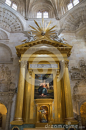 Burgos Cathedral - Spain Editorial Stock Photo