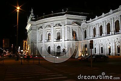 Burgtheater晚上场面维也纳
