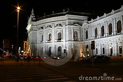 Burgtheater in Vienna, night scenes