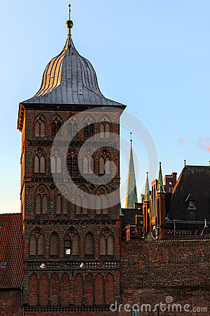 Free Burgtor, Tower Of The Historic Castel Gate In Brick Architecture Stock Photography - 83829672