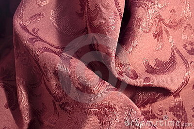 Burgundy Damask Fabric