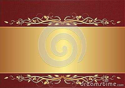 Burgundy och guldbakgrund