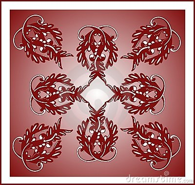 Burgundy tile