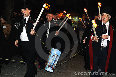 BURIAL OF THE SARDINE Carnival. Madrid .SPAIN Editorial Photography