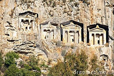 Burial tombs, Turkey