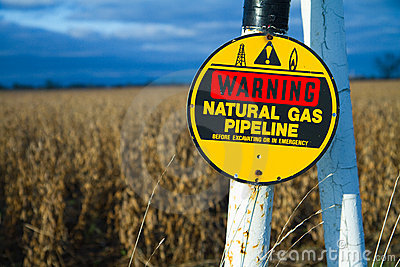 Buried gas pipeline