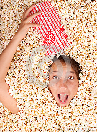 Free Buried In Popcorn Stock Photos - 26576543