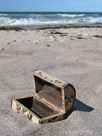 Free Buried Treasure-chest... Too Late :-) Stock Image - 142931